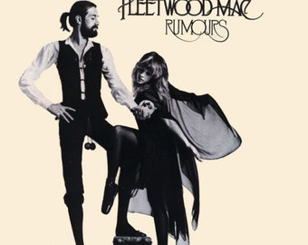 Fleetwood Mac - Rumours (1977) - Print with Black Card Frame and Mount (21cm x 21cm)