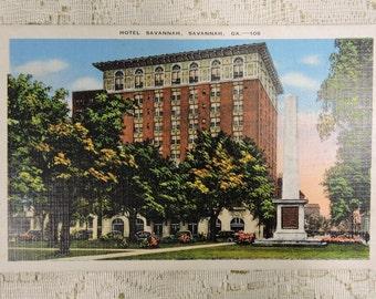 Postcard Hotel Savannah, Savannah, GA Vintage