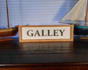 Wooden distressed Galley sign / beach decor / nautical decor