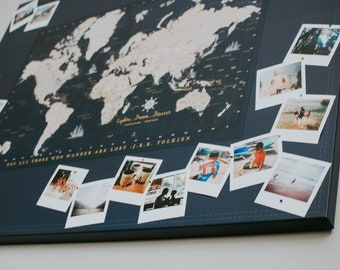 World maps push pin maps and travel related by worldvibestudio world map push pin canvas photo board canvas photo board map 5th anniversary gumiabroncs Gallery