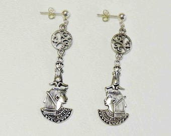 Cleopatra Vintage Dangle Earrings With Sterling Silver Posts
