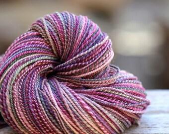 """Handspun Yarn DK Falkland  """"Blooming""""  330 yds."""