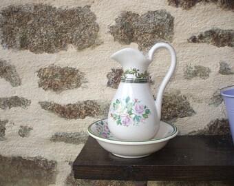 Small decorative ceramic pitcher and Jug