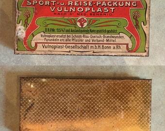 Antique Vintage Tin storage advertising