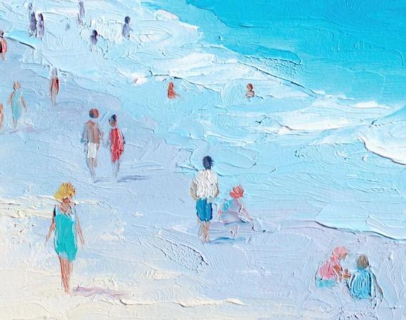 Myrtle Beach South Carolina Oil Painting Decor Art Seascape House Springmaid Pier United Statesocean