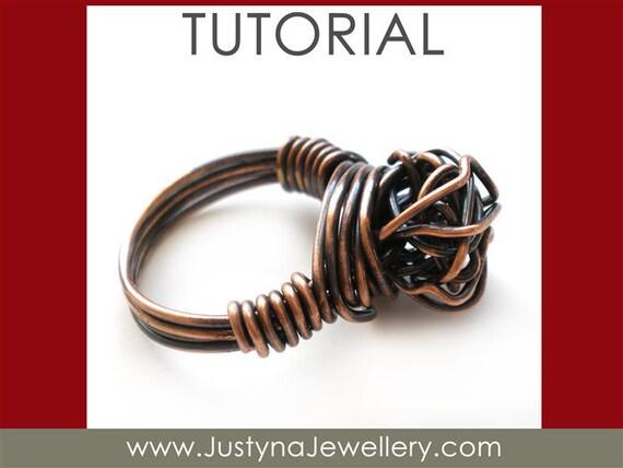 Draht Schmuck Tutorial Knot Ring Tutorial verknotete Ring