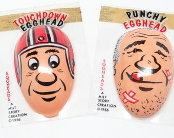 Vintage 1950's Touchdown & Punchy Eggheads, Milt Story Creation 1956