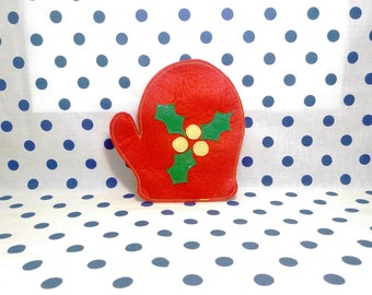 Glove of Santa Claus, 2018, Christmas gift, christmas decorations, coasters, christmas coaster