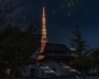 Tokyo Tower Print, Japan, tokyo, Japan photography, travel photography, wall art, dorm , decoration, fine art print
