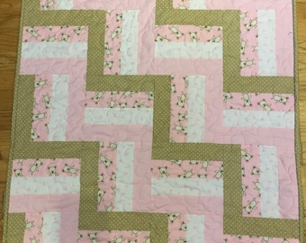 Rail Fence Baby Quilt Kit Cut Ready to Sew