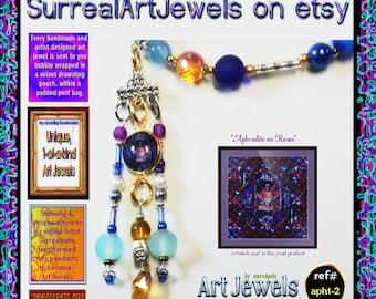 Art Jewel Necklace - Unique Handmade Wearable Artwork