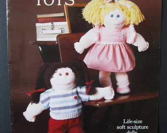Precious Tots, instructions to make soft sculpture dolls from pantyhose, then knit, sew clothing for baby, little girl or little boy dolls