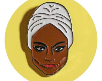 Eartha Kitt enamel lapel pin