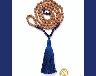 Lapis Lazuli Rudraksha Mala 108