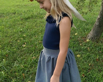 Photo Shoot Dress | Navy Dress | De Ateliers Original |The Perfect Dress | Ruffled Collared Dress | Ellie Ann and Lucy