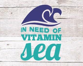 Vitamin Sea Decal | Vitamin C Decal | Ocean Decal | Beach Decal | Lake Decal | Yeti Decal