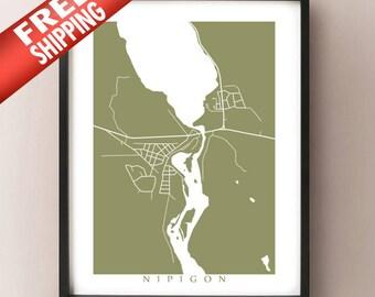 Nipigon, Northern Ontario Map Print