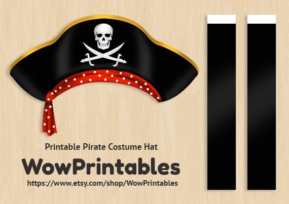 This is a picture of Exceptional Printable Pirate Hat