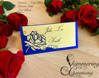 Beauty and the Beast inspired rose wedding place cards  escort cards fairytale table setting decorations custom