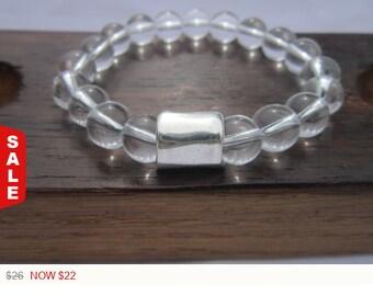 Sale -  Men Clear Quartz Bracelet, Men All Chakra Bracelet, Men Energy Bracelet, Men Healing Quartz Men Powerful Bracelet, Men Clear Quartz
