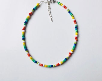 Multicolored beaded necklace