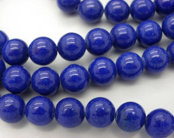 25 jade 10 mm round blue color Malaysia jade hard