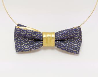 Bow tie collar women: Naiad Sapphire