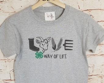 4-H Way Of Life Goat Youth, 4-H Goat Shirt, Farm Shirt, Goat Lover Shirt, 4-H Shirt, 4-H, Goat,