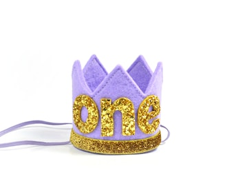 First Birthday Party Hat || Purple Crown || Birthday Crown || Unicorn Birthday Hat || Birthday Girl Outfit