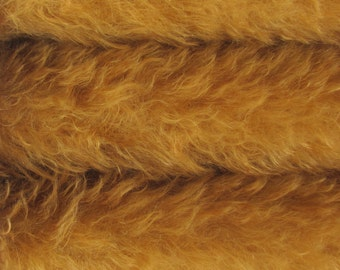 Quality KID9S/C - Mohair - 1/4 yard (Fat) in Intercal's Color 711S-Caramel. A German KID-Mohair Fur Fabric for Teddy Bear Making & Crafts