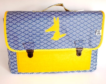 Binder CP/primary reinforced and light blue and yellow pattern Japanese