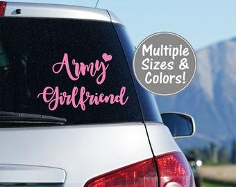 Army Girlfriend Car Decal, Army Girlfriend Yeti Decal for Women US Army Girlfriend Decal Laptop Decal Military Decal Army Car Decal Military