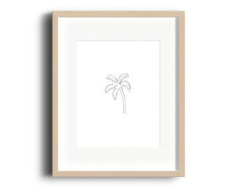 Palm Tree Watercolor Printable | Palmtree Print | Palm Tree Gallery Wall Print