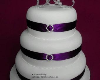 New GLITTER monogram cake toppers Silver Glitter  SET 3