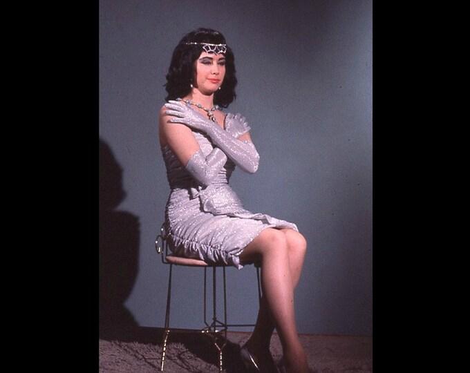 35 mm EktaChrome Slide/Transparency: Princess; Amateur Glamor, c1950s-60s Vintage Snapshot Photo