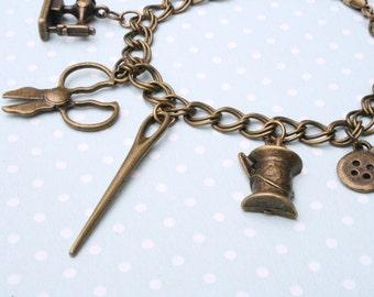 I love sewing charm bracelet