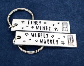 Wibbly Wobbly Timey Wimey Key Chain Set