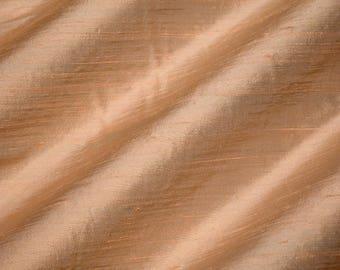 RAFFIA 2046-1D -  Pure Silk Dupioni Fabric - Handwoven By the Yard