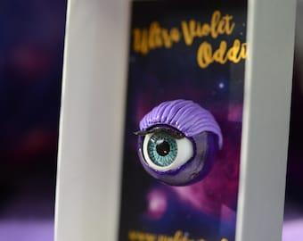 Purple Blinking Eyeball Pin