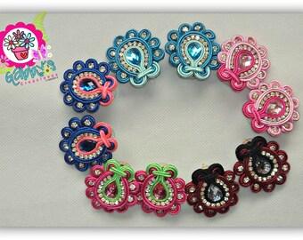 Soutache Earrings, Soutache tendrils, earrings, earrings, earrings