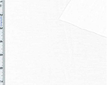 White Specialty Jersey Knit, Fabric By The Yard