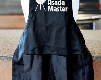 BBQ Apron, Gift For Men,Carne Asada Master, Barbecue Apron, Fathers Day Gift, Christmas Gift , Gift for Dad, Grill Apron, BBQ Accessories