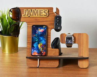 Docking Station / Personalized Gift / Fathers Day Gift / Gift for Father / Gift for Dad / Fathers Day / Gift for men / Gift for Him