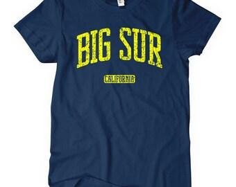 Women's Big Sur California Tee - Big Sur Ladies' T-shirt - S M L XL 2x - Surfing Shirt - 4 Colors