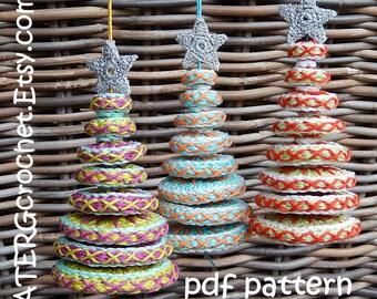 Crochet pattern Christmas tree 'disks' by ATERGcrochet