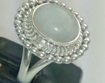 rainbow moonstone ring,925 sterling silver ring
