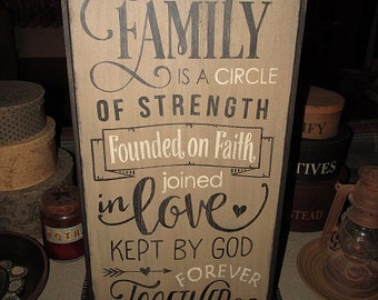 "Family sign |  Wood sign | Wall sign | Wall hanging | Home decor | Farmhouse style sign | Typography sign | 11.75"" W x 24.5"" L"