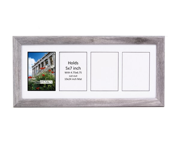 5x7 Multiple 2 3 4 5 6 7 8 9 Opening Driftwood Picture Frame