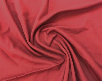 1 3/8 Yard Piece-Pebbled Flame Red Mid-Weight 100% Cotton