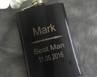 Groomsman Gifts/Personalized 8oz. Flask/Engraved Flasks/Best Man Gift/Father of the Groom/Father of the Bride Gift/Fathers Day Gifts